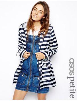 asos-petite-stripe-rain-pac-a-parka by asos-petite