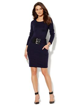 belted-sweater-dress by new-york-&-company