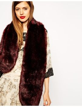 asos-faux-fur-oversized-long-collar by asos-collection