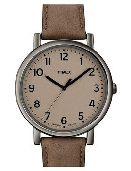 easy-reader-leather-strap-watch by timex®