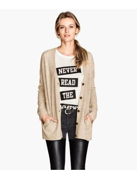 wide-cut-wool-blend-cardigan by h&m