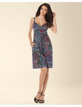 sleeveless-paisley-printed-surplice-short-dress by soma