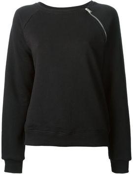 zip-detail-sweatshirt by saint-laurent