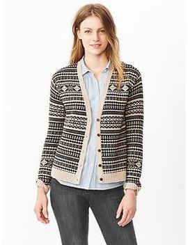 fair-isle-v-neck-cardigan by gap