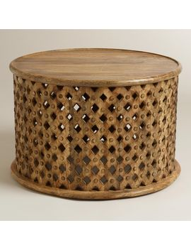 tribal-carved-coffee-table by world-market