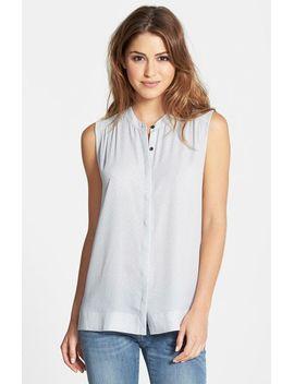 sleeveless-shirred-shirt by halogen®