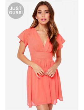 lulus-exclusive-whatever-you-sway-coral-dress by lulus