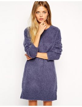 asos-jumper-dress-in-brushed-alpaca by asos-collection