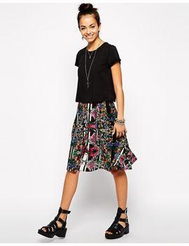 glamorous-midi-skirt-in-folk-floral by glamorous