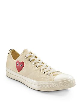 low-top-canvas-sneakers by comme-des-garcons-play