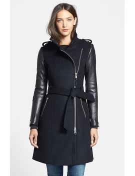 leather-trim-wool-coat by mackage