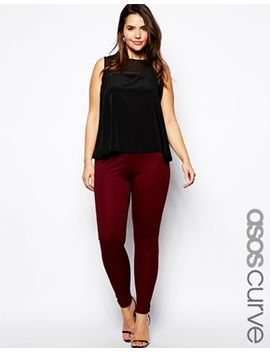 asos-curve-high-waist-pant-in-ponte by asos-curve