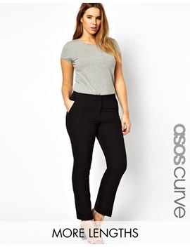 asos-curve-workwear-pant-with-jet-pocket by asos-curve