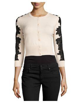 wool-blend-lace-inset-cardigan,-champagne_black by diane-von-furstenberg