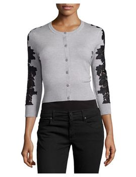 wool-blend-lace-inset-cardigan,-fog_black by diane-von-furstenberg