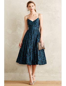 glinted-taffeta-midi-dress by tracy-reese