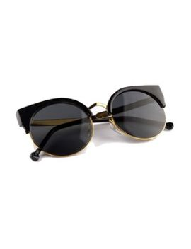 black-half-frame-cat-eye-sunglasses by choies