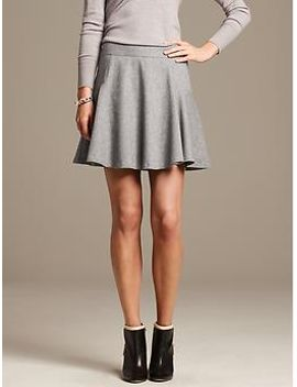 gray-flannel-fit-and-flare-skirt by banana-repbulic