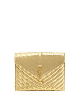 monogramme-envelope-shoulder-bag,-golden by saint-laurent