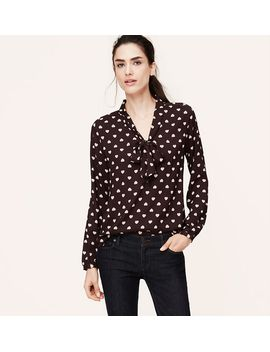 signature-sweetheart-print-bow-blouse by loft