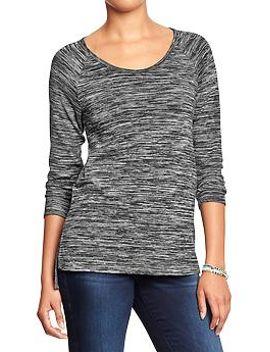 womens-space-dye-3_4-sleeve-tees by old-navy