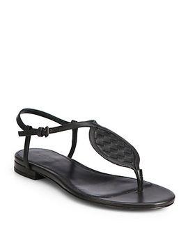 intrecciato-leather-thong-sandals by bottega-veneta