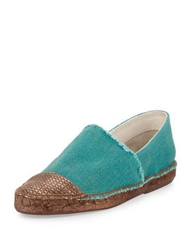 patricia-cap-toe-espadrille,-emerald-green by andre-assous