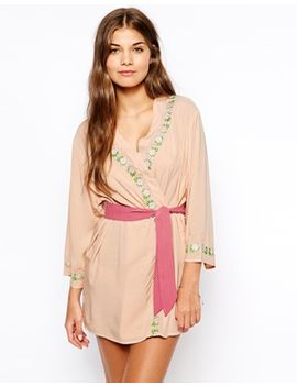 asos-elise-embroidered-robe by asos-collection