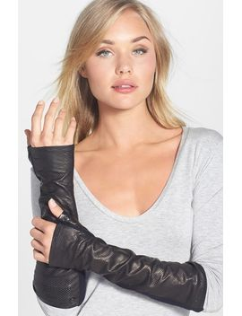 perforated-leather-&-wool-armwarmers by vince-camuto