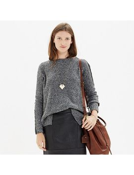 leather-stripe-marled-sweater by madewell