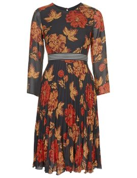 bloomsbury-floral-print-midi-dress by topshop