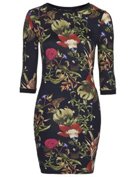 fantasy-garden-print-bodycon-dress by topshop