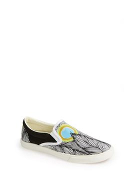 peacock-slip-on-sneaker by bucketfeet