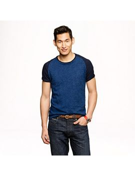 indigo-baseball-t-shirt by jcrew