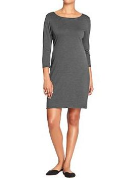 womens-3_4-sleeved-ponte-dresses by old-navy