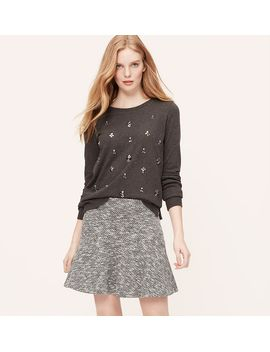 curvy-fit-tweed-flippy-skirt by loft
