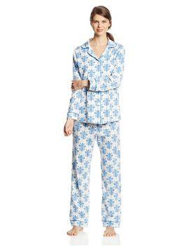 bedhead-pajamas-womens-classic-stretch-pajama-set,-call-of-wild-ivory,-x-small by bedhead-pajamas
