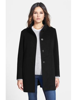 stand-collar-wool-blend-coat by cinzia-rocca-due