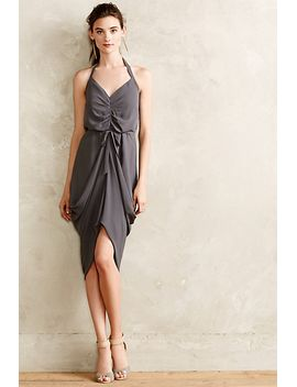 ruched-slate-dress by paper-crown