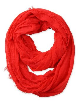 corciova-soft-solid-infinity-loop-scarf-with-fringe-red by corciova