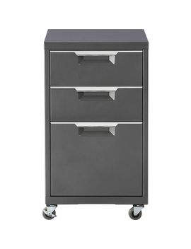 tps-carbon-3-drawer-filing-cabinet by crate&barrel
