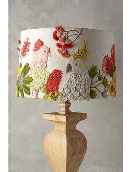 embroidered-cockatoo-lamp-shade by anthropologie