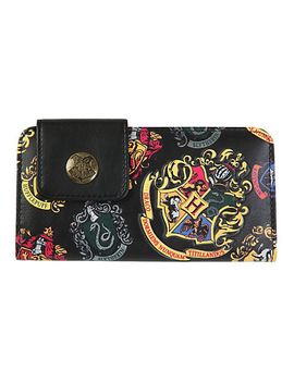 harry-potter-crests-snap-button-flap-wallet by hot-topic