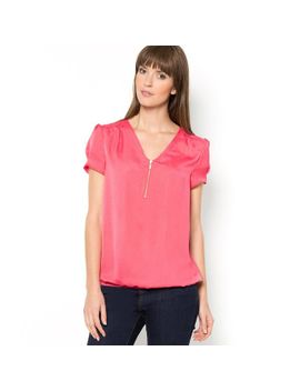short-sleeved-crinkled-satin-blouse by r-essentiels