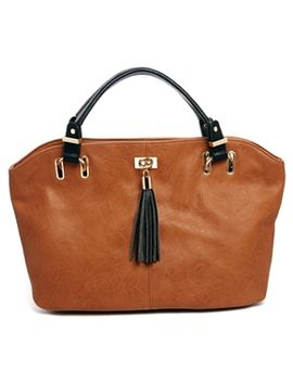 asos-handheld-bag-with-front-plate-and-tassel by asos