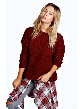 rosanna-laguna-bubble-knit-jumper by boohoo