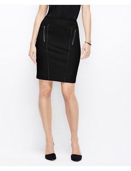 curvy-fit-faux-leather-trim-pencil-skirt by ann-taylor