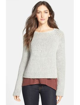 the-fisher-project-jewel-neck-alpaca-blend-sweater by eileen-fisher