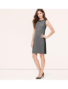petite-colorblock-sleeveless-ponte-dress by loft