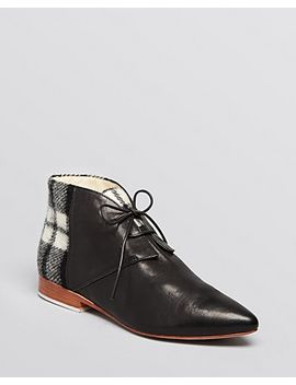 pointed-toe-flat-lace-up-ankle-booties---garcon by matt-bernson